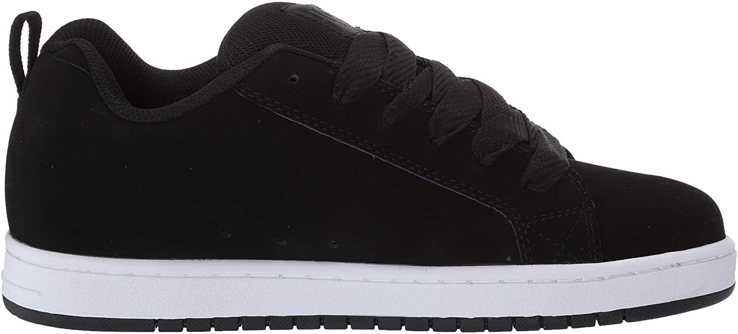 DC Men's Court Graffik SE Skate Shoe, Black Used, 6 D M US