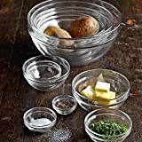 James Scott 10 Piece Set Stackable European Made lead Free Glass Kitchen Prep, Dipping Sauce, Dessert, Salads, Candy Dish or Nut Bowls.