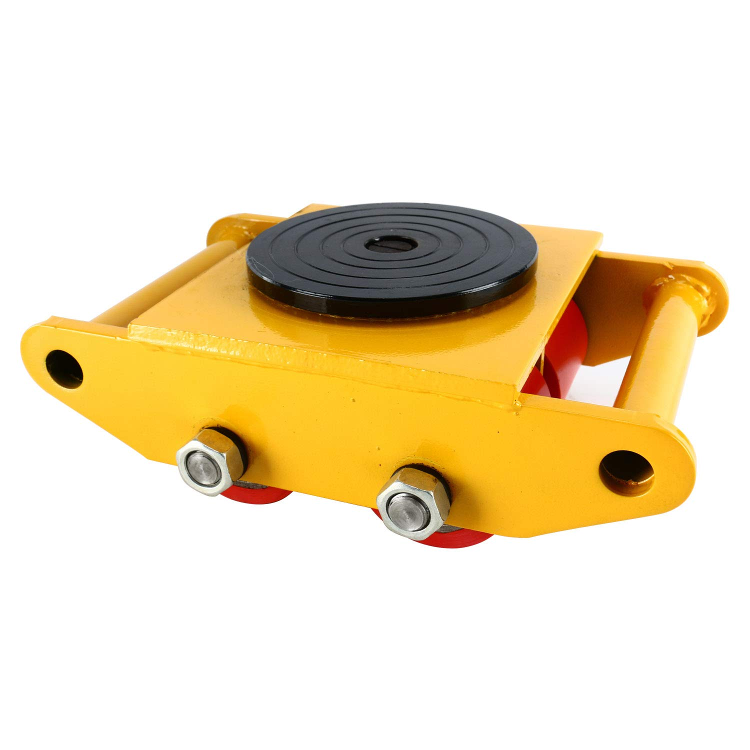 YaeTek Industrial Machinery Mover 13200 lbs 6 Tons Machinery Skate Dolly with 4 Rollers Cap 360 Degree Rotation (Yellow)