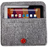 Bear Motion BMFIRE7FELTGRAY for New Fire 7 Tablet, Premium Felt Sleeve Case for the New Fire 7 ((2017 and 2015 Model), Gray