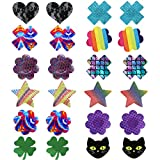Youngbox 12 Pairs Pasties Nipple Cover Adhesive Breast Petals Disposable Nippleless Cover (Mixed)