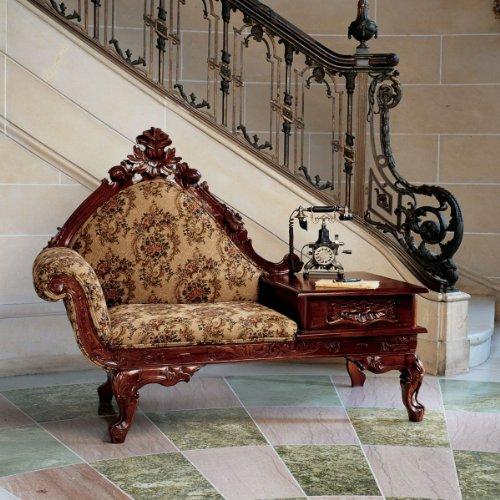 Design Toscano Victorian-Style Gossip Bench, Multicolored -