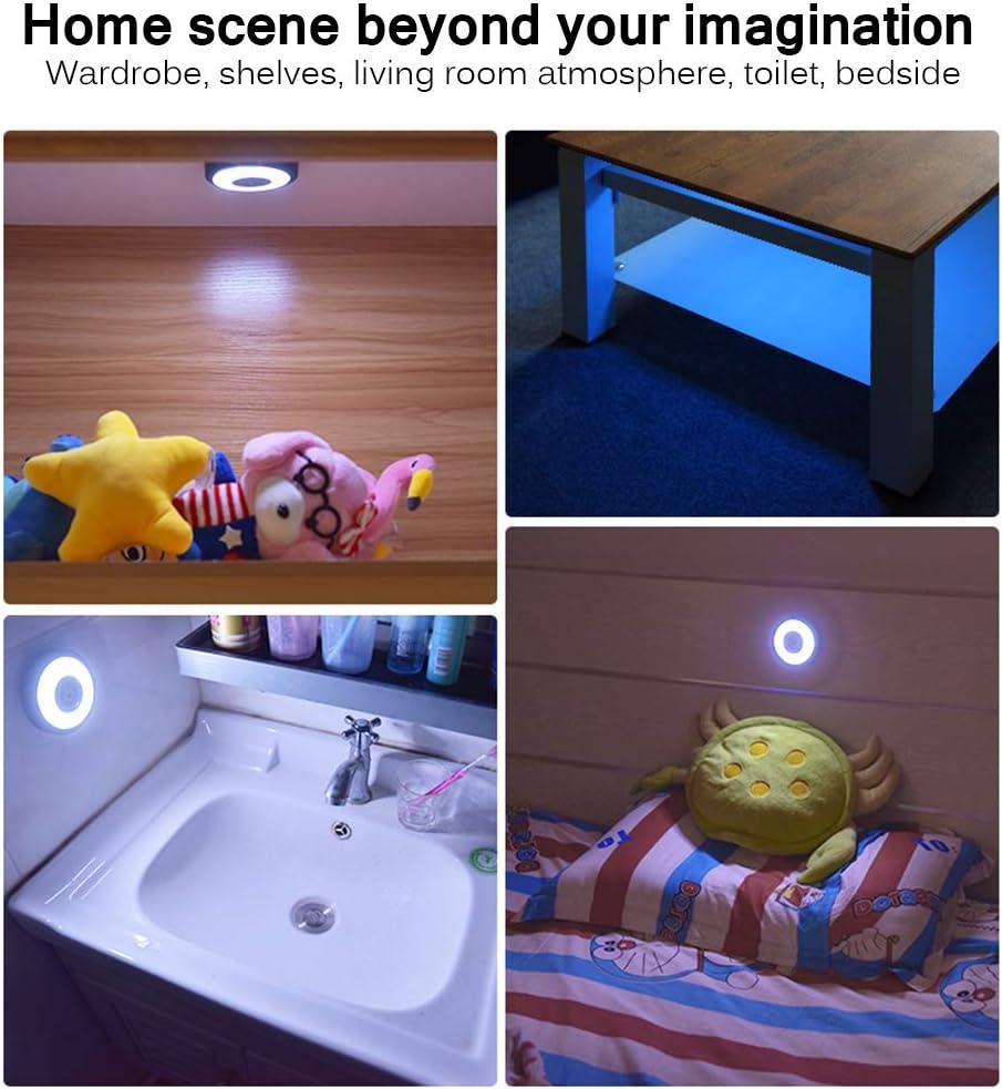 HaavPoois 1 Pieza de Luz de Techo Recargable USB para Coche Luz de Lectura LED para Habitaci/ón de Beb/é L/ámpara de Techo Interior para Interior del Veh/ículo con Maletero Autom/ático Negro