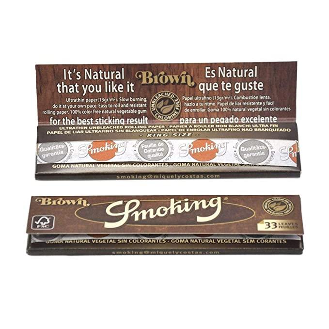 Papel para Liar Cigarrillos, Papeles Enrollables para Tabaco Naturales (32 hojitas): Amazon.es: Salud y cuidado personal