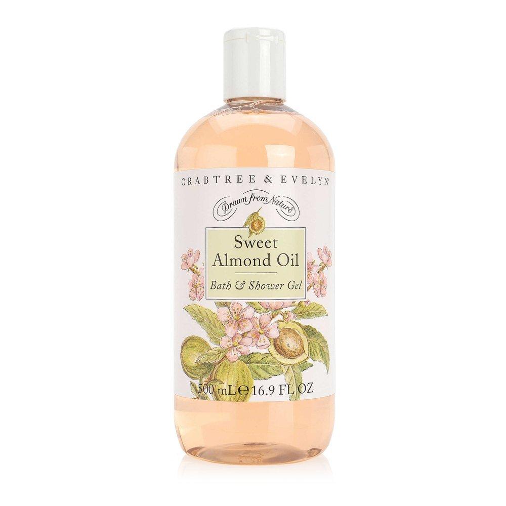 Crabtree & Evelyn Bath and Shower Gel, Sweet Almond Oil, 16.9 Fl Oz