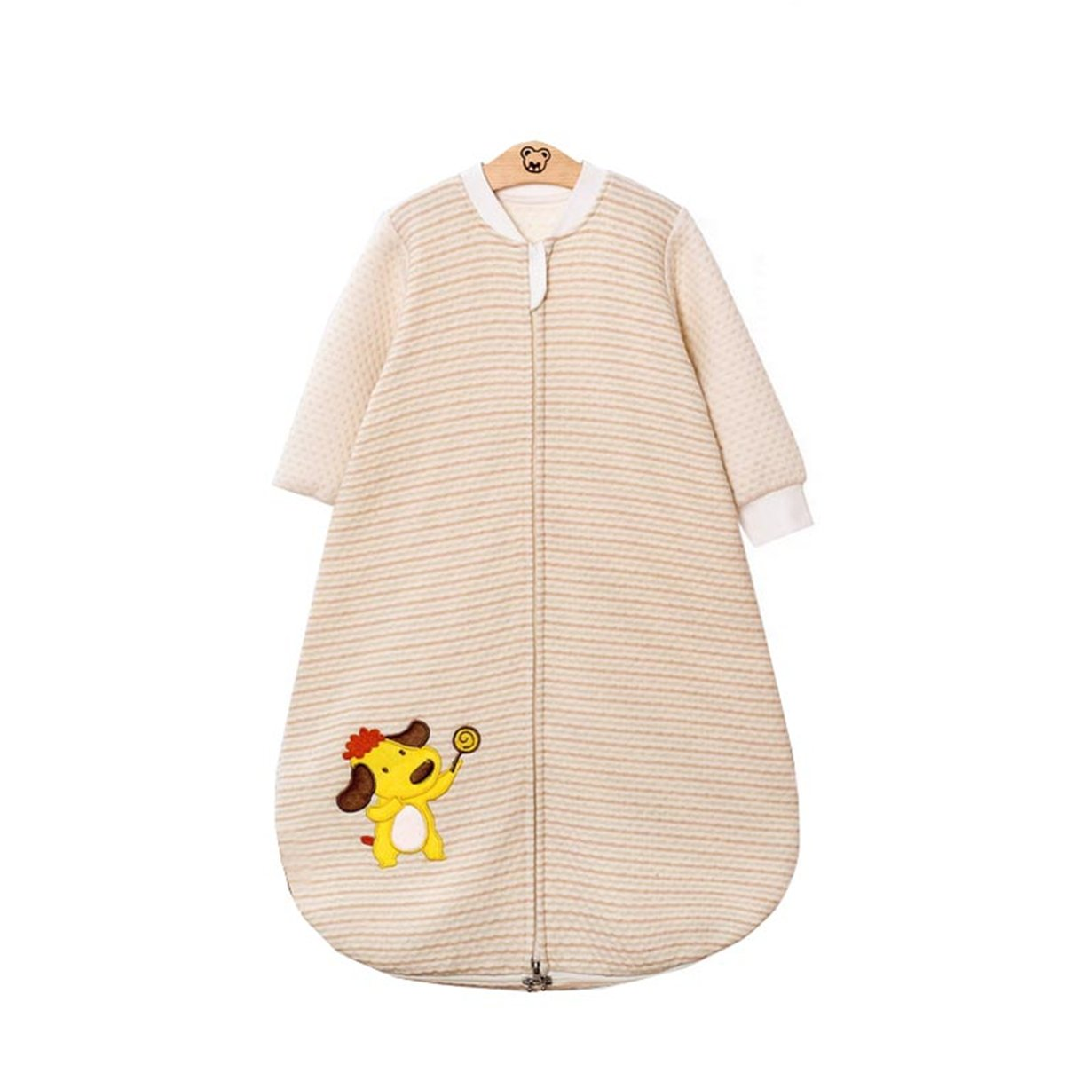 Removable long sleeves/£/¬1 Tog 3# Chilsuessy Unisex Baby Sleeping Bag 100/% organic Cotton 75//Body Height 27.5-31.4