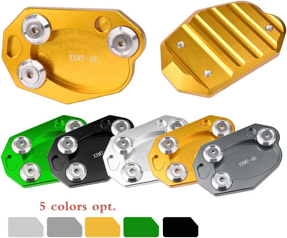 Motorrad Aluminium Seitenständer Ständer Seitenständererweiterung Vergrößern Plate Pad Zubehör Für Kawasaki Z1000 Z1000sx Zx10r Er6n Er6f Zx6r Z800 Schwarz Auto