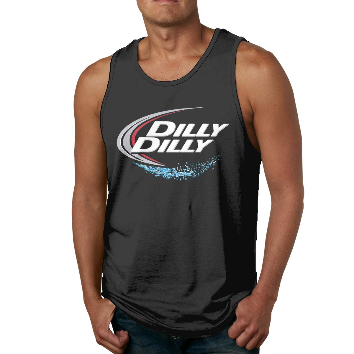 Dilly Dilly Splash Mens Printed Vest Sports Tank-Top Tee Leisure Sleeveless T Shirt