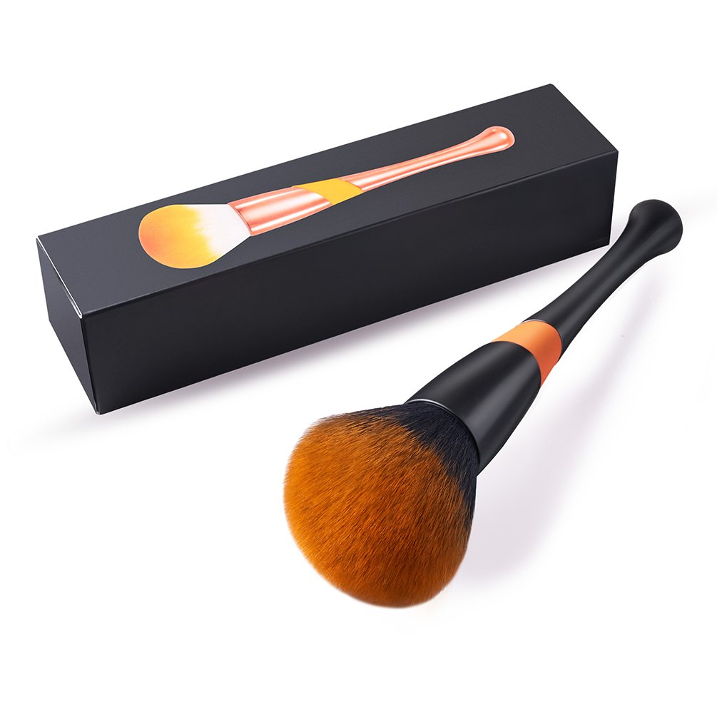 Large Powder Brush, FITDON Professional Kabuki Brush for Face Full Coverage Mineral Powder Foundation Blending Blush Buffing Applicator Made with Cruelty Free Synthetic Bristles