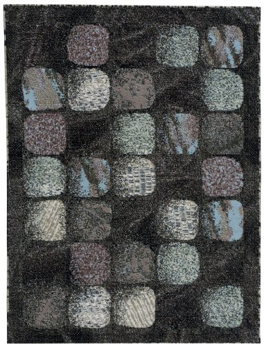 Nourison Modesto Charcoal Rectangle Area Rug, 7-Feet 10-Inches by 10-Feet 6-Inches 7 10 x 10 6