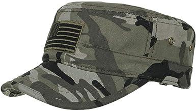 LOPILY Sombrero de Sol Gorra Plana Gorra Militar Sombrilla Al Aire ...