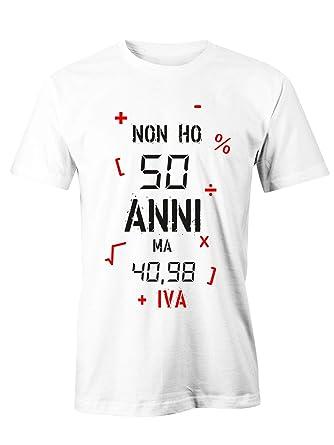 Puzzletee T Shirt Compleanno Non Ho 50 Anni Ma 40 98 Iva Idea Regalo Magliette Simpatiche E Divertenti In Cotone