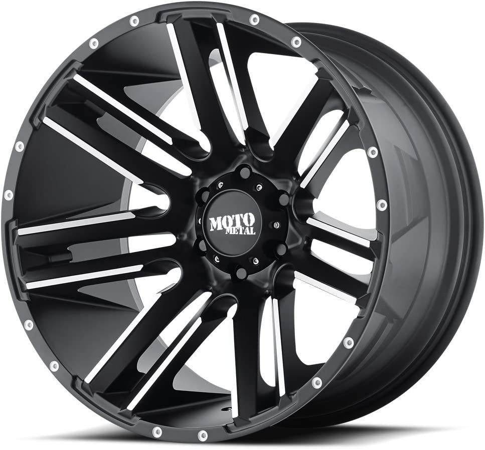 hexavalent compounds MOTO METAL MO978 RAZOR Satin Black Machined Wheel Chromium 20 x 12. inches //8 x 125 mm, -44 mm Offset