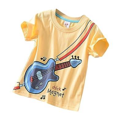 a4ce4795c051 Baby Kleidung, erthome Baby Jungen Mädchen Top T-shirt Kleidung Kurzarm  Karikatur Oberseiten-