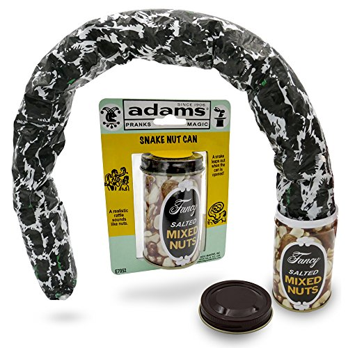 Adams Pranks & Magic – Jumping Snake Mixed Nuts Can – THE Classic Snake Can Gag