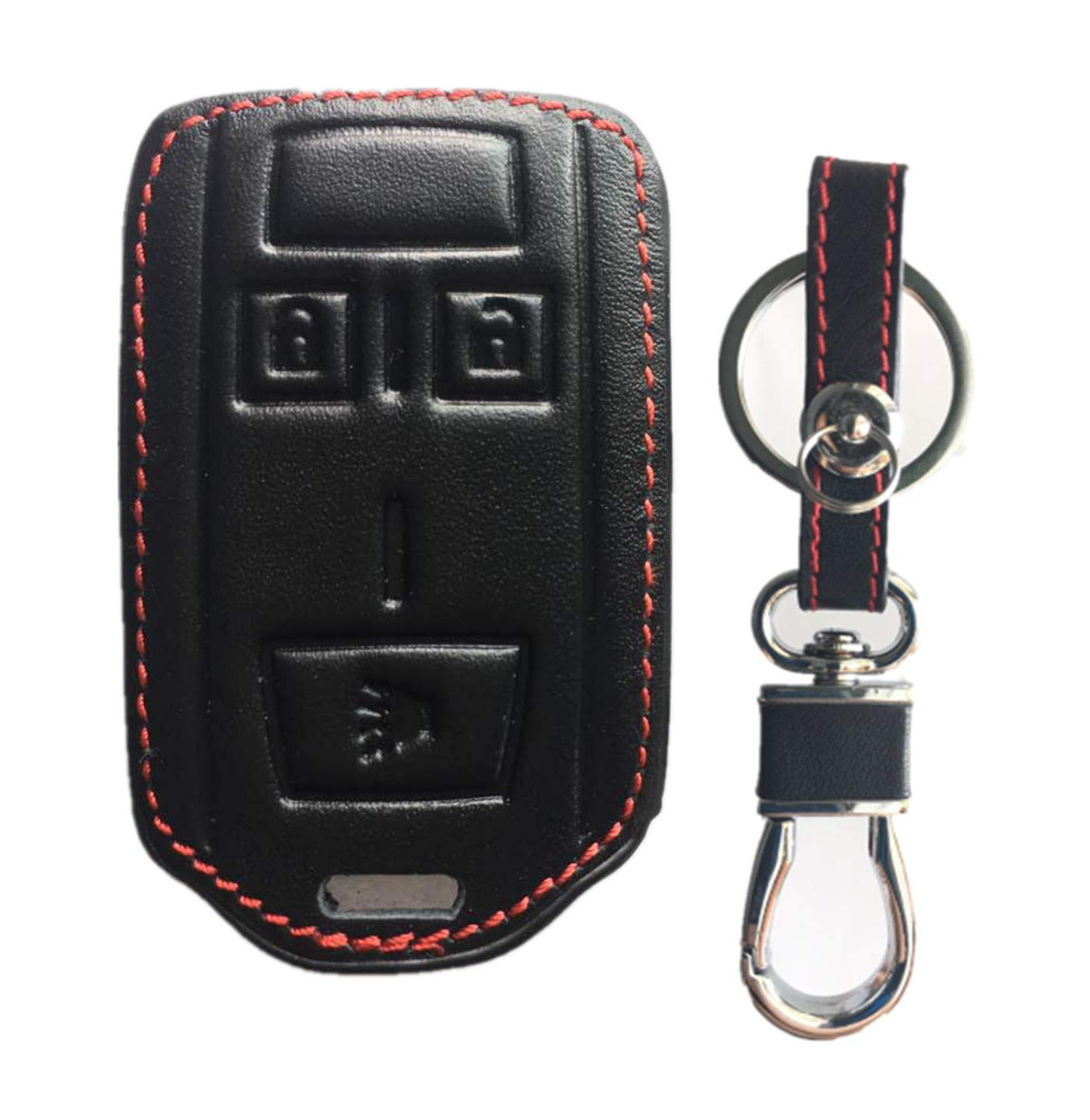 KAWIHEN Leather Smart Remote Key Fob Case Holder Cover For Chevrolet Silverado 1500 Colorado Tahoe Suburban Gmc Yukon Sierra 1500 Canyon M3N-32337100 13577771