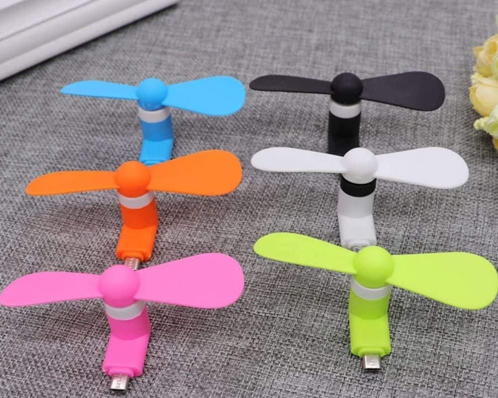 Driver USB Mini Portable Micro-USB-ventilator for iPhone 6, 6s, 7,7s, Plus, iPad Mini, Plastic, Zwart, 9 cm smp04 (Color : Green) Yellow ANZvbdrb