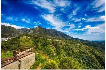 ZZXSY Puzzles Adultos 1000 Piezas Vista Panorámica con Valla Rústica En Las Montañas De Sierra Blanca En Málaga, Provincia Española Cerca De Marbella Adecuado para Regalos De Año Nuevo: Amazon.es: Hogar