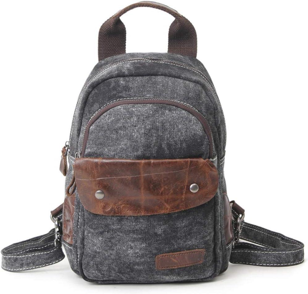 ZYqi European and American Shoulders Retro Ladies Backpack Daily Leisure Bag Travel Street Female Backpack Color : Black