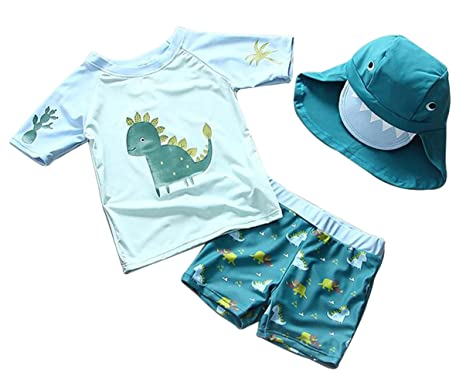 cb3faff5c364 EGELEXY Baby Boys Summer Sports Swimwear Cartoon Dinosaur Swimsuit Bathing  Beach Size 1-2T (
