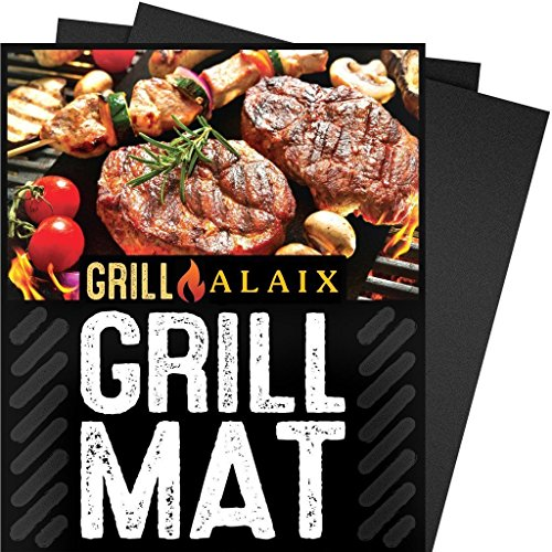 Non Stick BBQ Grilling Mats - Heavy Duty, Reusable, and Easy to Clean - 15.75 x 13 Inch,Set Of 3
