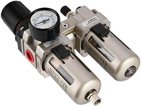 Luftdruckregler Ac3010 03 Aluminiumlegierung Druckluft Druckregler Feuchtigkeitsfilter Wasserfilter 3 8 1pcs Pack Baumarkt