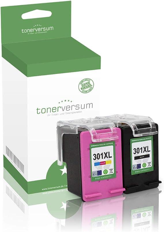 Juego de 2 cartuchos de tinta compatibles con HP 301XL 301 XL ...