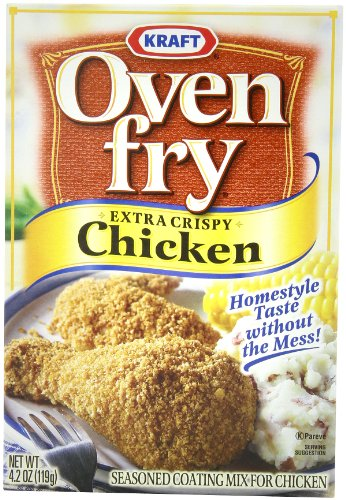 Price comparison product image Oven Fry Seasoned Coating Mix, Extra Crispy Chicken, 4.2-Ounce Boxes (Pack of 8)