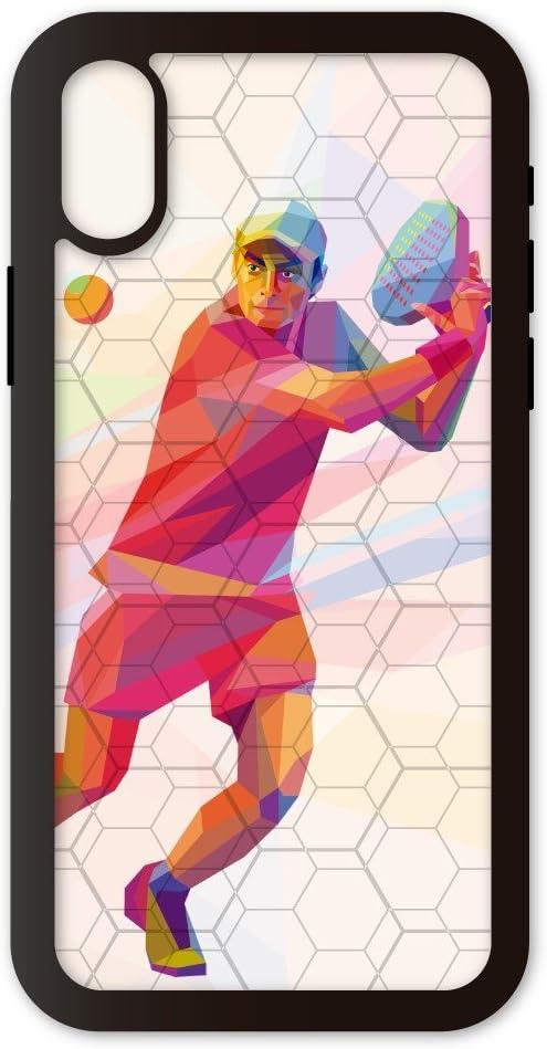 PHONECASES3D Funda móvil Compatible con iPhone X/XS Padel Volea. Carcasa de TPUde Alta protección. Funda Antideslizante, Anti choques y caídas.