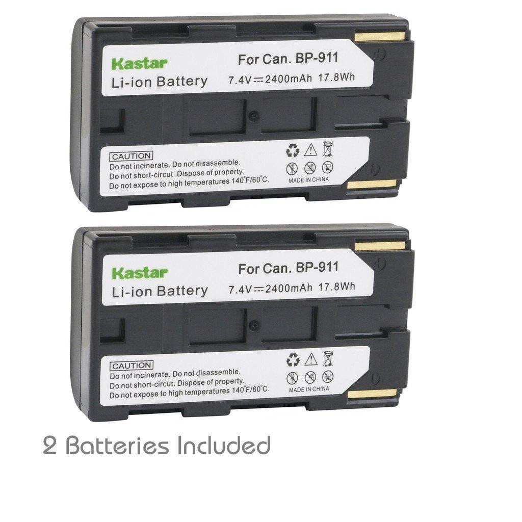 Kastar bp911 Battery ( 2 - Pack ) for Canon bp-911、bp-911 K、bp-914、bp-915 and Canon es6500 V、es7000es、es7000 V、es8000 V、es8100 V、es8200 V、es8400 V、es8600カメラ B01MU1BN5F