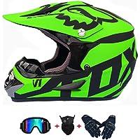 $76 » Asdfgh Helmet,DOT Youth Kids or Adult Offroad Helmet Motocross Helmet Dirt Bike, with Gloves and Goggles