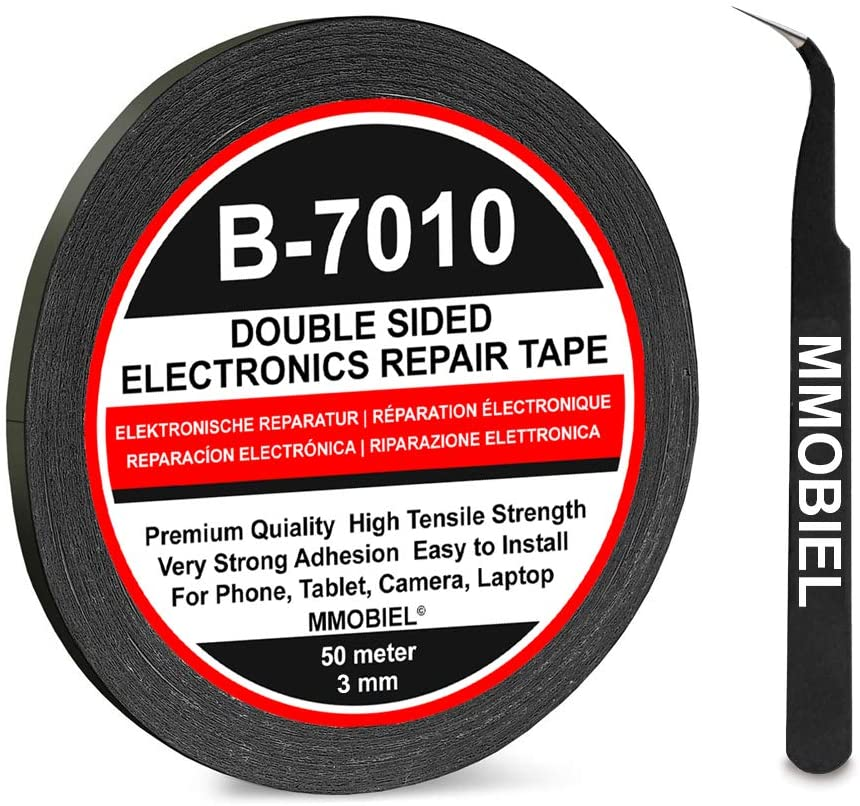 MMOBIEL 3 mm Double Sided Layer Strong Adhesive Tape 50 m Long Roll (Black) for Smartphone Tablet Repair