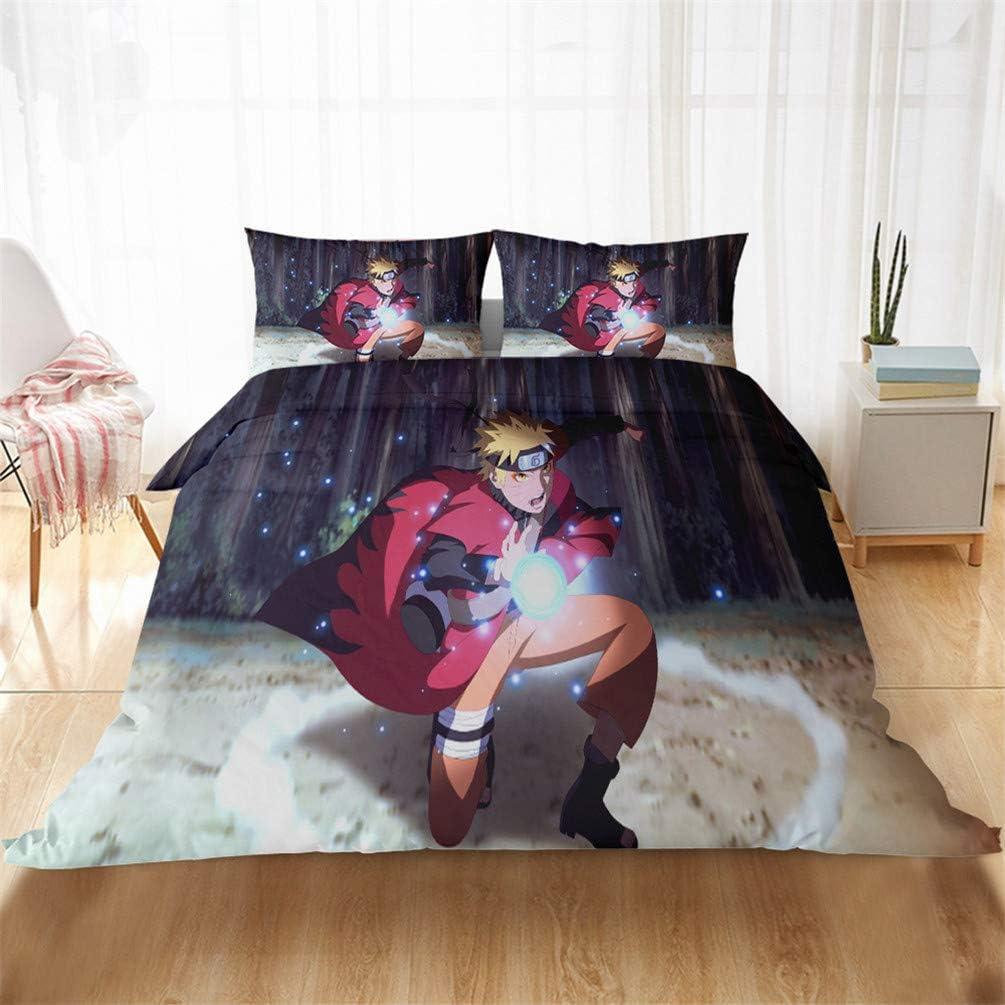 01 Juego de cama infantil con dise/ño de Kakashi Uchiha Itachi Akatsuki Sasuke Anime DFTY Naruto 135*200CM
