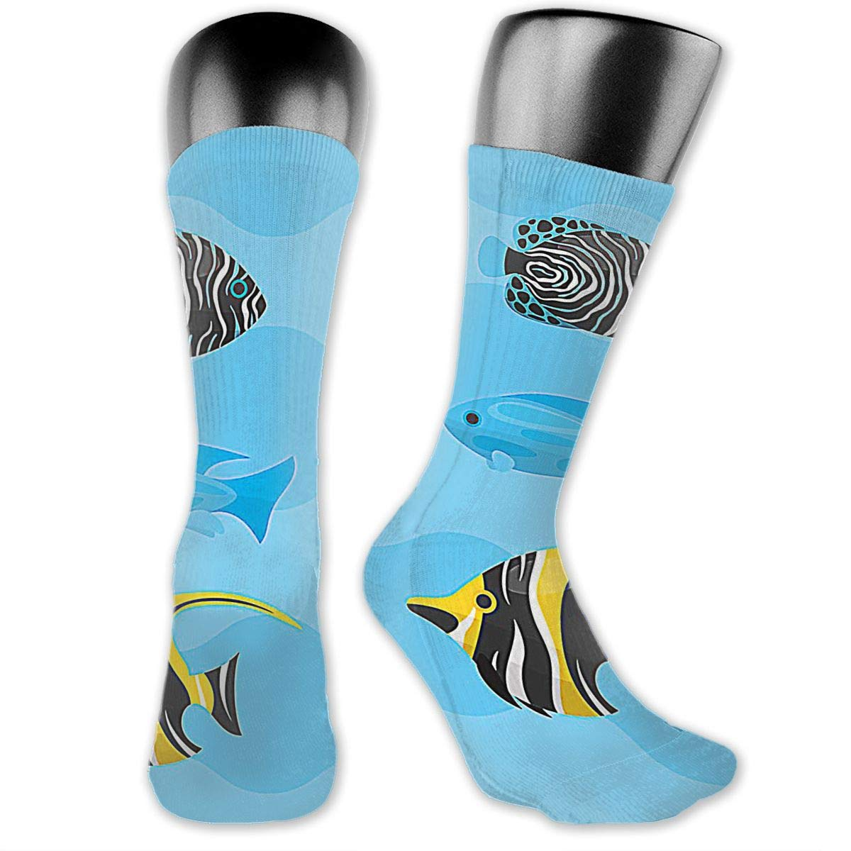 OLGCZM Tropical Fish Men Womens Thin High Ankle Casual Socks Fit Outdoor Hiking Trail