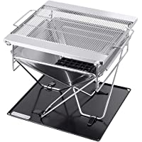 Deals on Pure Outdoor by Monoprice Stainless Steel Folding Charcoal Grill
