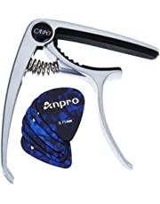 Anpro Guitar Capo for Ukulele, Acoustic and Electric Guitar with 6 Pcs Guitar Picks 0.46mm and 0.71mm