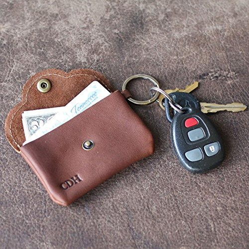 Rosie Fine Leather Scallop Keychain Wallet