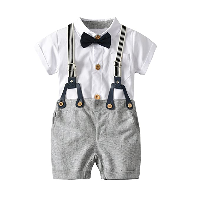 9ec2b6391721 Amazon.com  Newborn Baby Boy Romper and Overall
