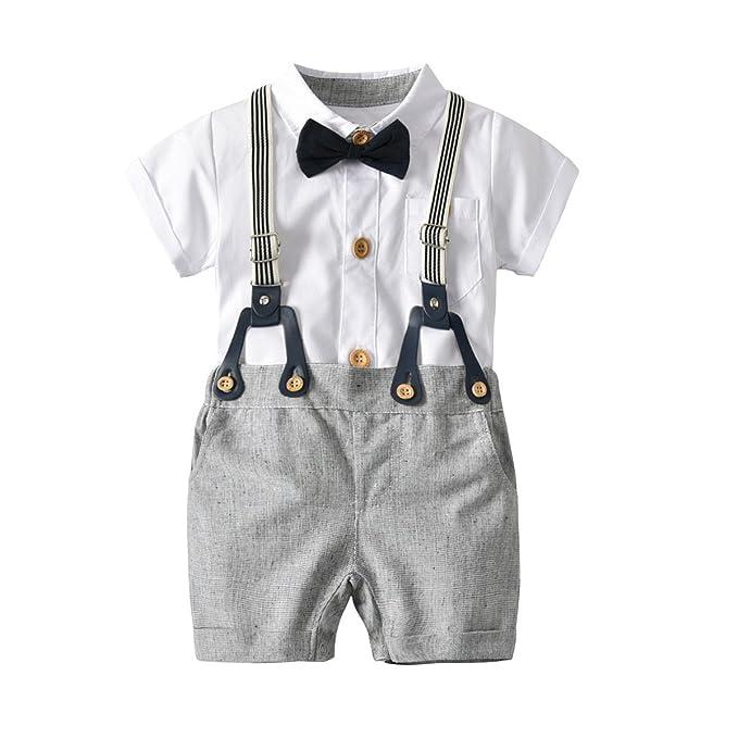 61926a86e617 Amazon.com  Newborn Baby Boy Romper and Overall