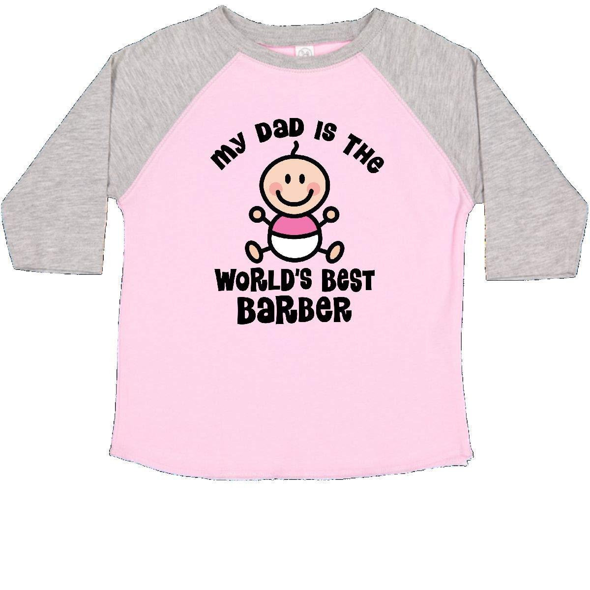 inktastic My Daddy Worlds Best Barber Toddler T-Shirt