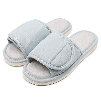 b3d5f6eb2b601 Amazon.com   Warm Winter Open Toe Diabetic Slippers Arthritis Edema ...