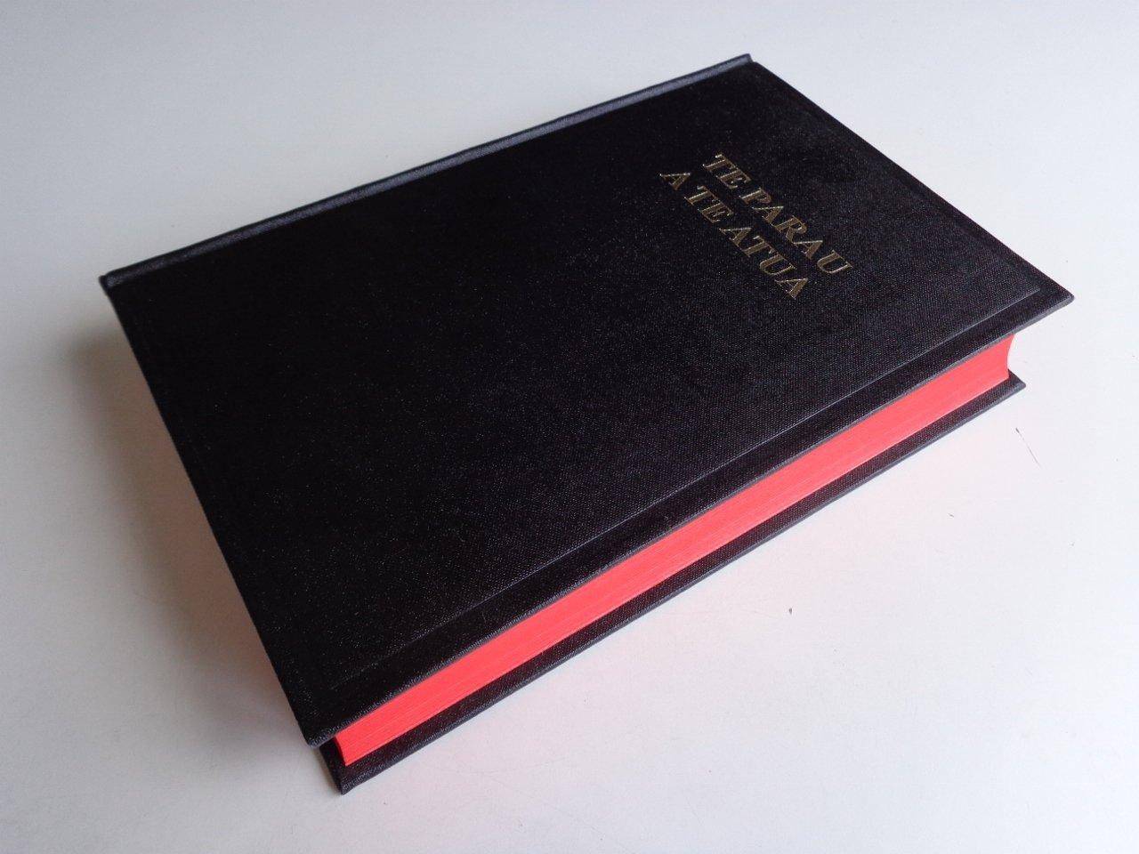 Tahitian Bible 053 Te Parau A Te Atua Te Bibilia Mo A Ra Oia Te Faufaa Tahito E Te Faufaa Api Ra Red Edges Black Hardcover Column References
