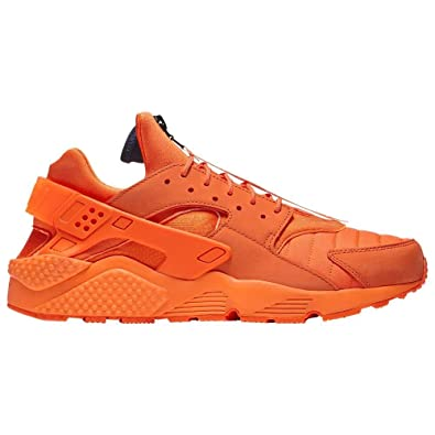 3ec0e0ff0cf07 Nike Mens Air Huarache Run QS Orange Blaze Midnight Navy White (8.5 D