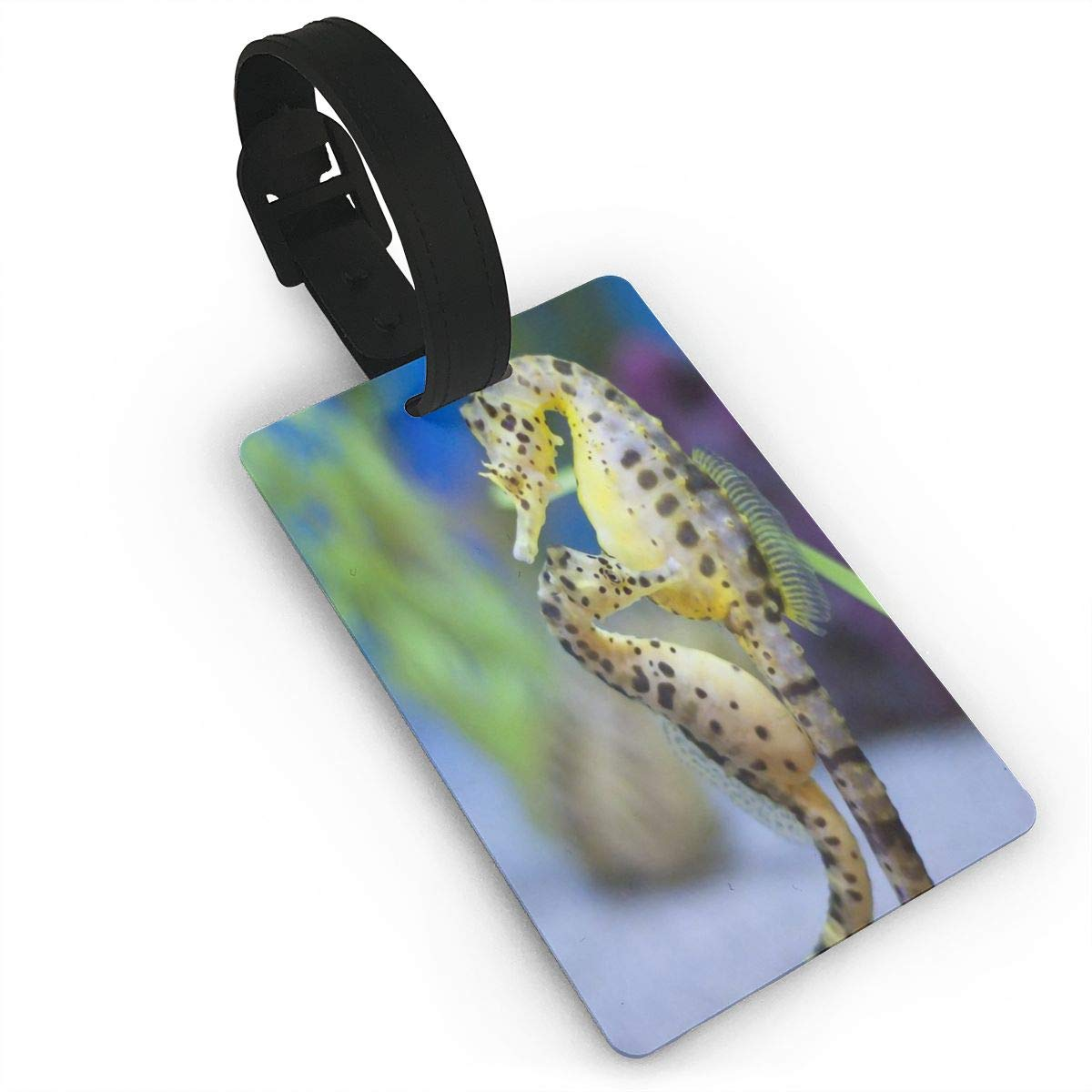 Sea Horse Handbag Tag For Travel Bag Suitcase Accessories 2 Pack Luggage Tags