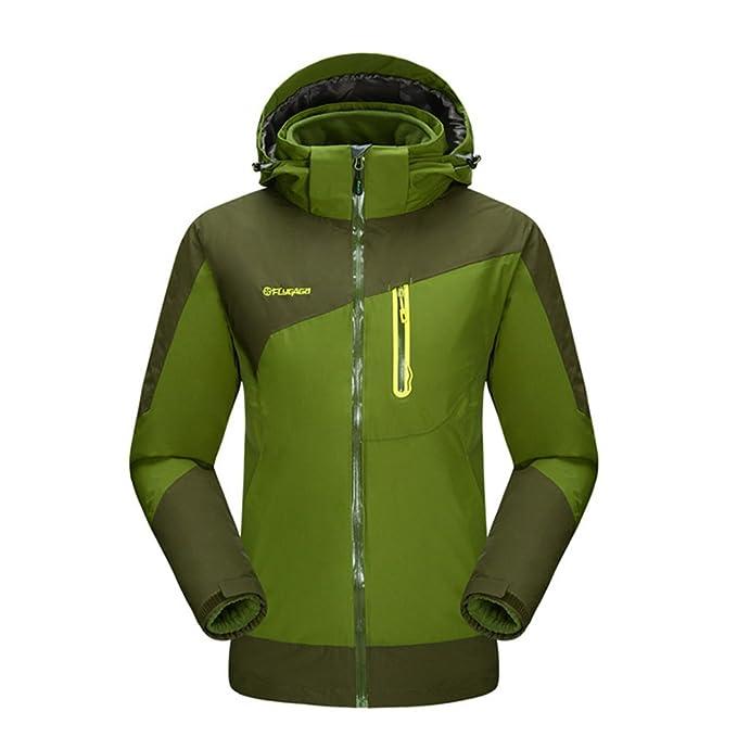 flygaga Hombre 3 en 1 Agua Viento Transpirable abrigo Outdoor Sport camping senderismo escalada con chaqueta Forro Polar: Amazon.es: Ropa y accesorios