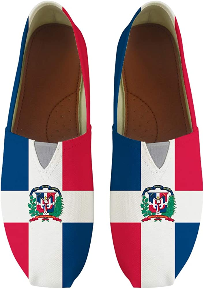 Classic Canvas Slip-On Lightweight Driving Shoes Soft Penny Loafers Men Women Dominica Flag
