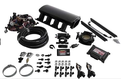 Fitech 70003 negro anodizado inducción Kit LS sistema para LS1/LS2/LS6 – 750