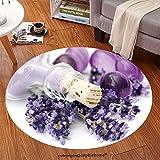 Sophiehome Soft Carpet 32784910 lavender spa Anti-skid Carpet Round 47 inches
