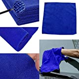 1 x Microfiber Towel Car Dry Cleaning Absorbant Cloth Blue