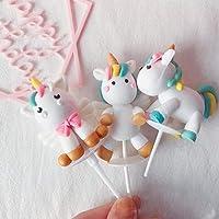 Goo Party 23pcs Unicorn Cake Topper Kit Unicorn Brithday Party Supplies Unicorn Brithday Cake Decor 1st Girl Birthday…
